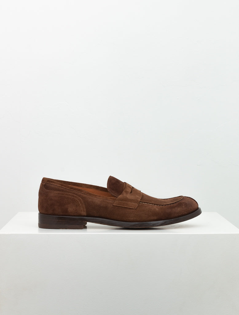 DOUCALS SUEDE PENNY LOAFER BROWN 1