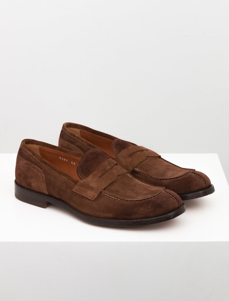 DOUCALS SUEDE PENNY LOAFER BROWN 2