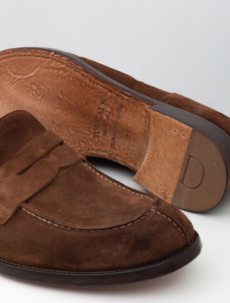DOUCALS SUEDE PENNY LOAFER BROWN 3