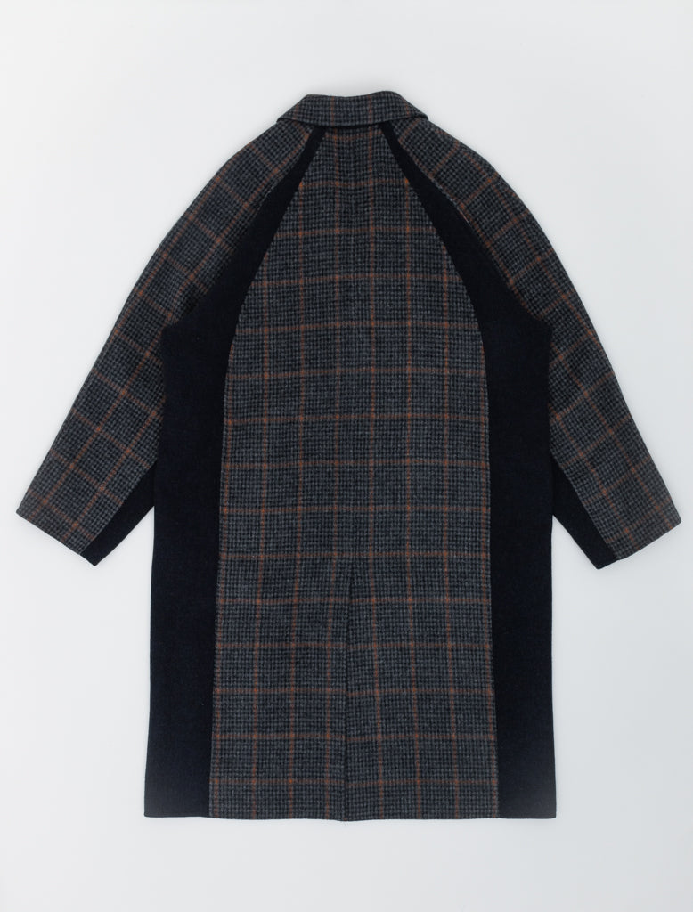 Deveaux Raglan Sleeve Coat Navy Houndstooth 2