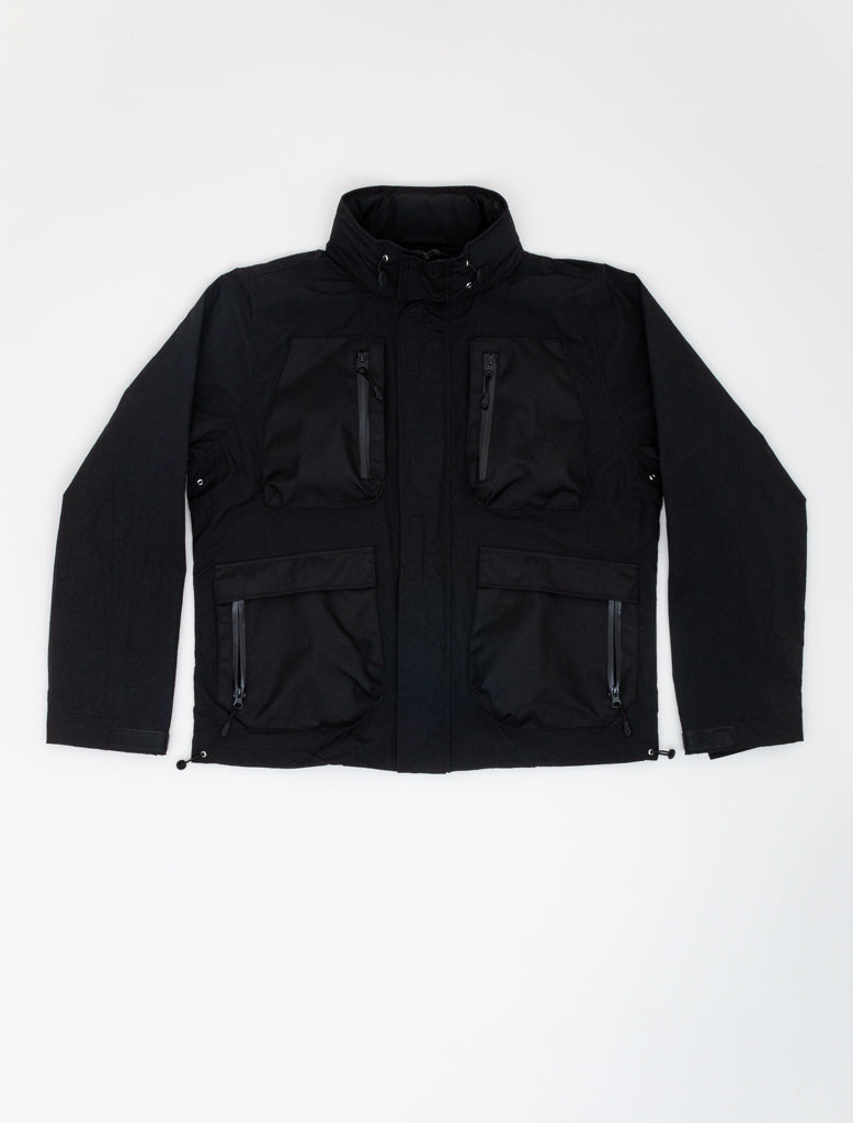 JOHN ELLIOTT HIGH SHRUNK PARACHUTE JACKET BLACK 1
