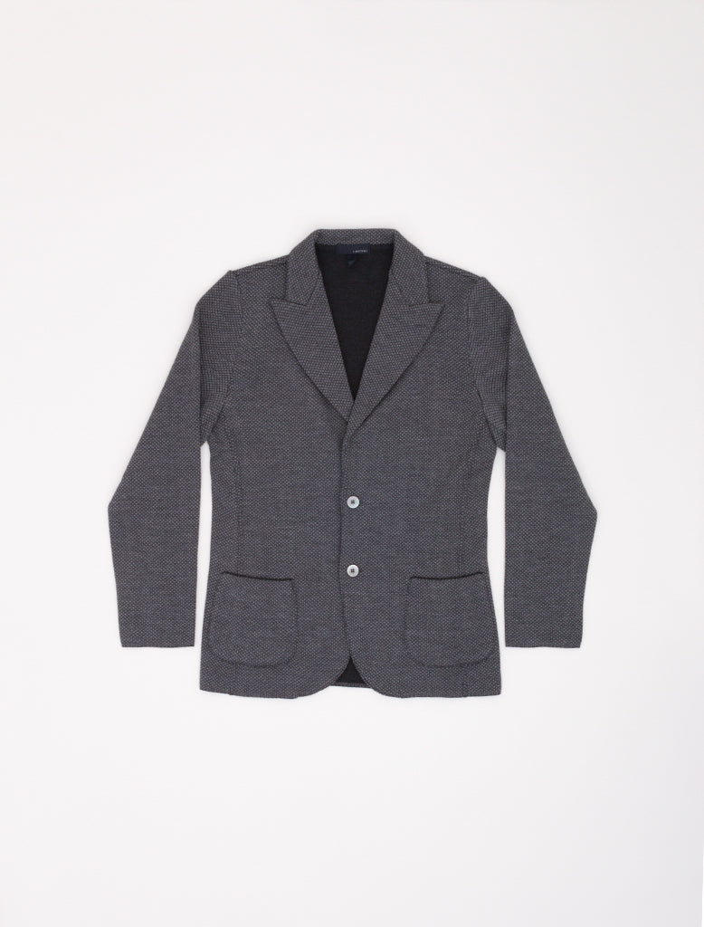 KNITTED PEAK-LAPEL BLAZER