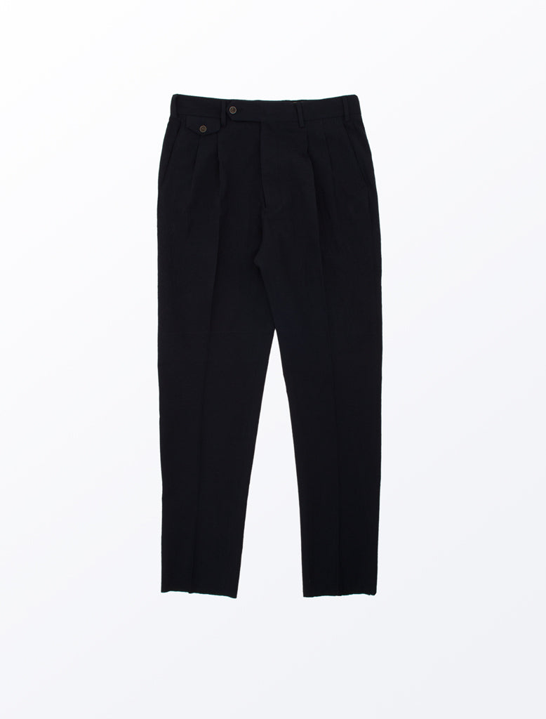 LARDINI TWIN PLEAT PANT NAVY 1
