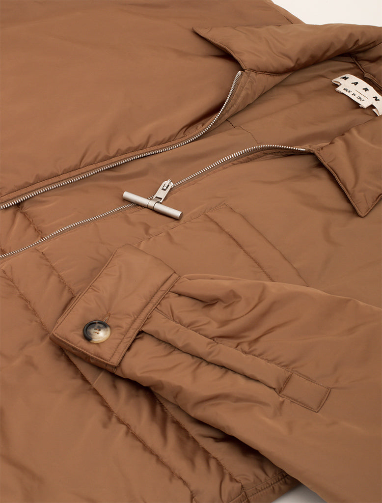 PADDED NYLON OVERSHIRT