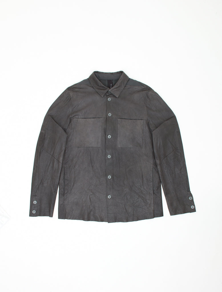 WASHED LAMBSKIN SHIRT