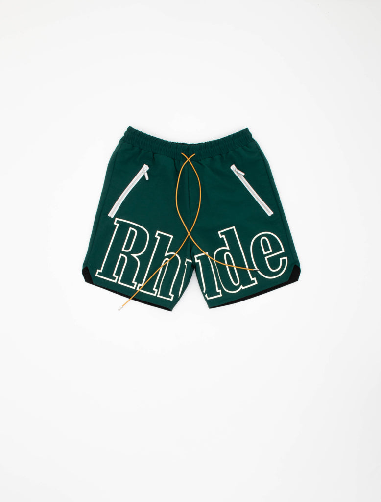 RHUDE OVERSIZED LOGO SHORT GREEN 1