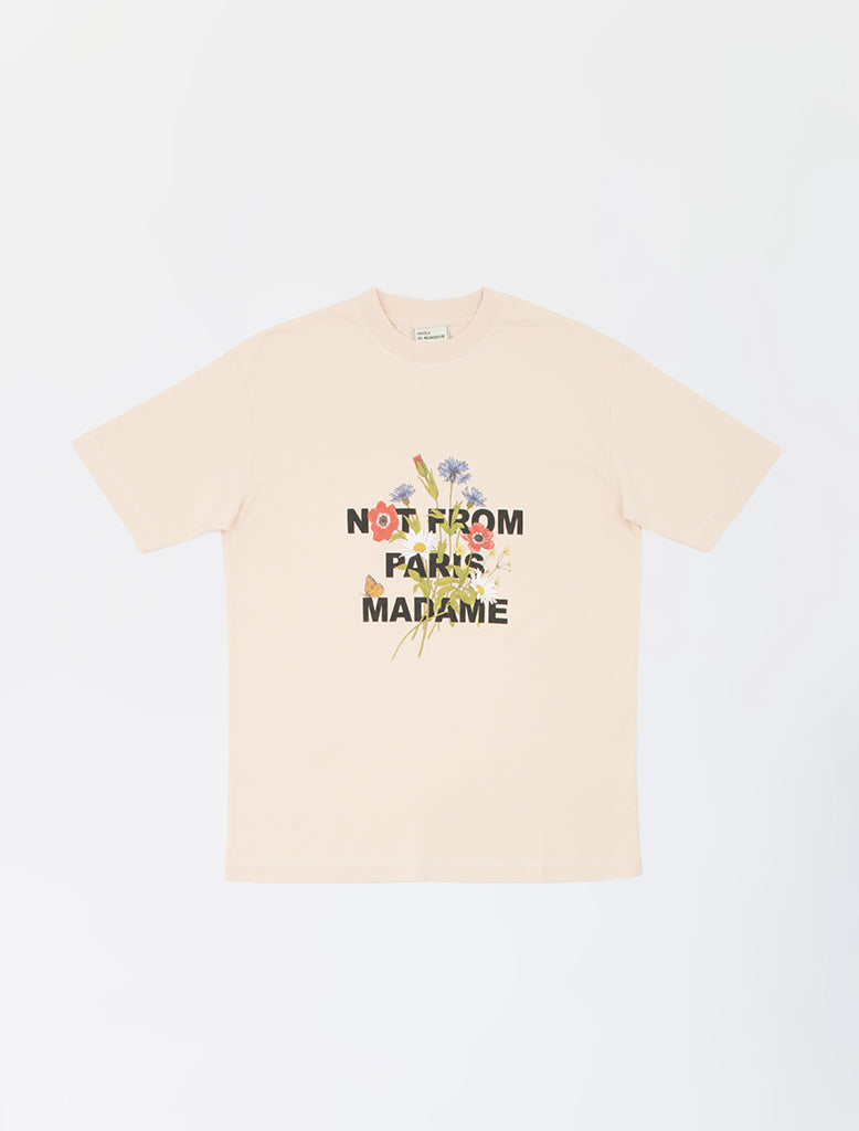 FLOWER SLOGAN T-SHIRT