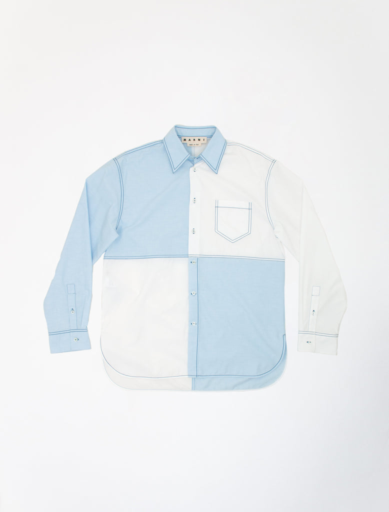MARNI PANELLED-WHITEBLUE-LS-SHIRT-01