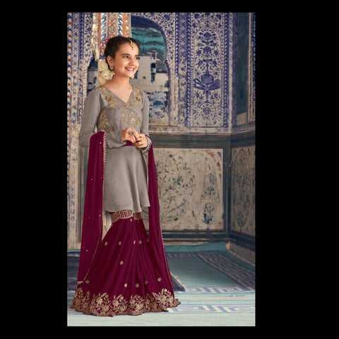 Girls Sharara Salwar Kameez