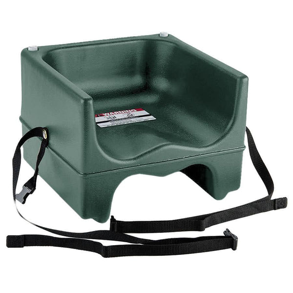 Green Plastic Booster Seat - Dual Seat with Strap