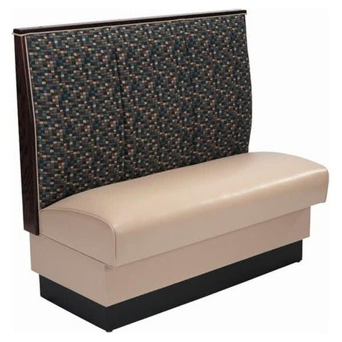 "AS-483 Single 3 Channel Back Upholstered Booth - 48"" High"