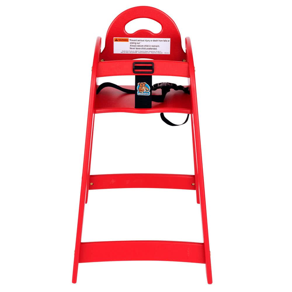 Designer High Chair - Red