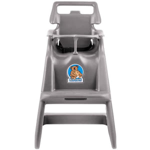 Classic High Chair with Wheels - Gray