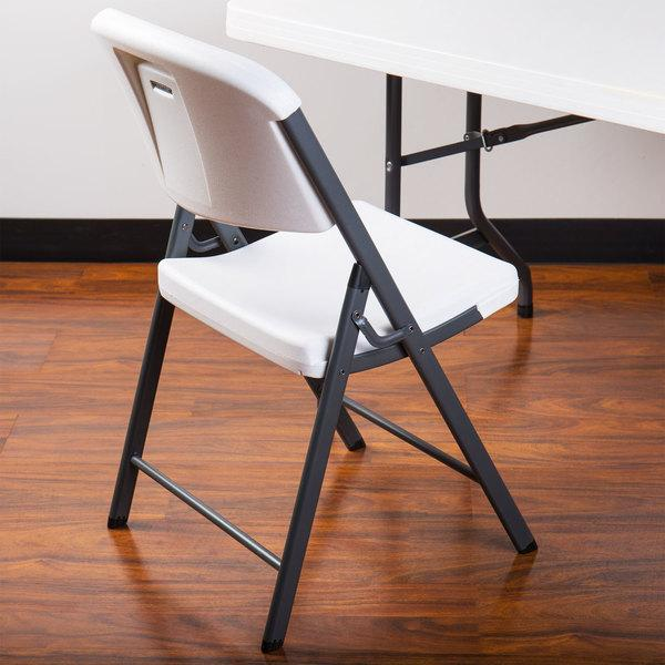White Contoured Folding Chair