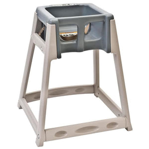 KidSitter Beige Convertible Plastic High Chair with Grey Seat