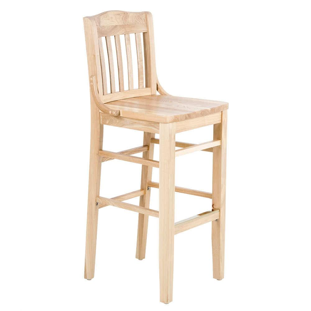 Natural School House Bar Height Chair