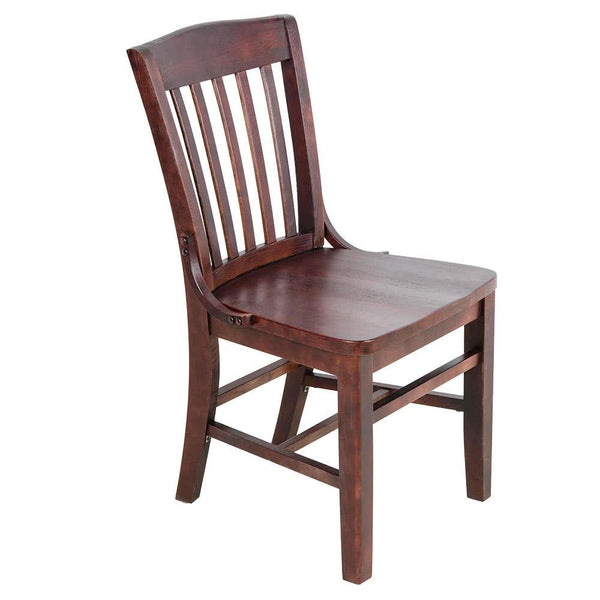 Mahogany Finish Wooden School House Chair