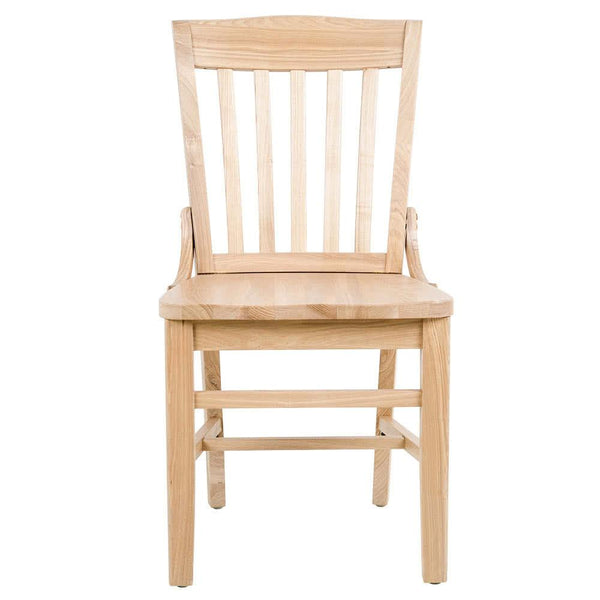 Natural Finish Wooden School House Chair