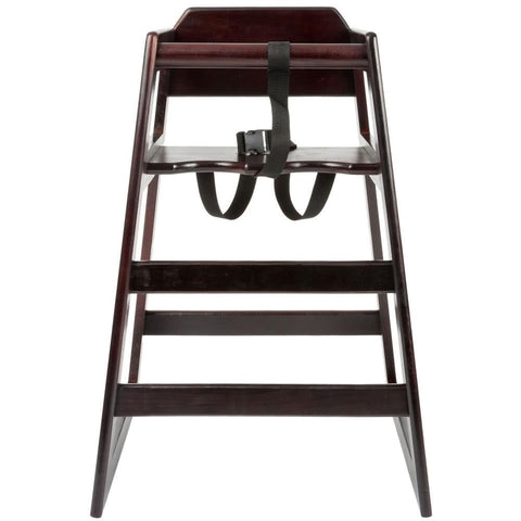 Wood High Chair with Dark Finish - Unassembled