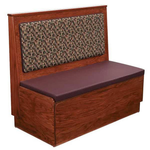 "AS36-W-PS-Wall Plain Back Platform Seat Wood Wall Bench - 36"" High"
