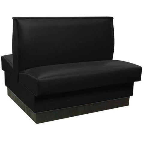 "42"" Black Plain Double Back Fully Upholstered Booth"