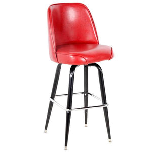 "Deluxe Barstool with 19"" Wide Bucket Seat"