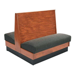 "Bead Board Back Standard Seat Double Wood Booth - 48"" High"