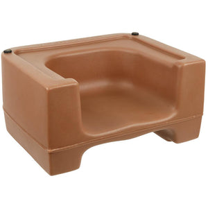 Beige Plastic Booster Seat - Dual Seat