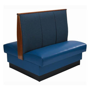 "AD-483 Double 3 Channel Back Upholstered Booth - 48"" High"
