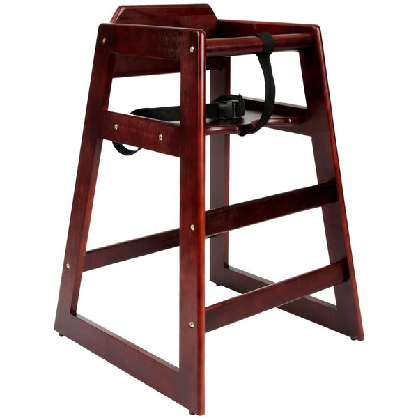 Wood High Chair with Mahogany Finish - Unassembled