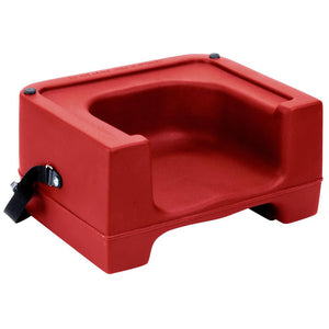 Red Plastic Booster Seat with Safety Strap - Dual Height