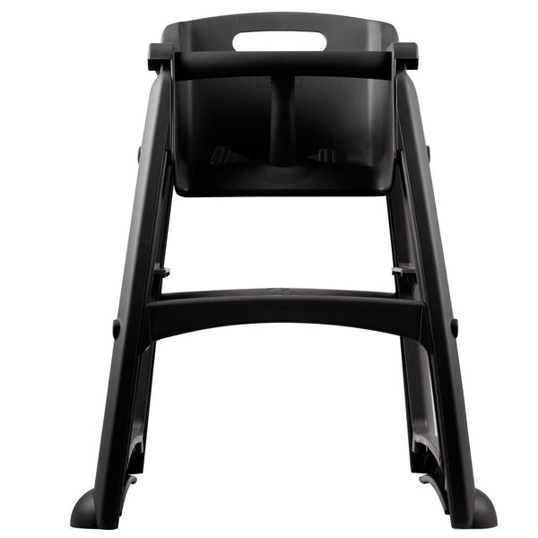 Black Sturdy Chair Restaurant High Chair without Wheels (Ready to Assemble)