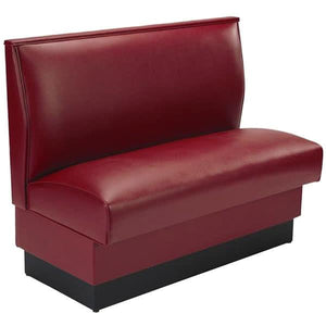 "QAS-36 ARM-120--M 36"" Sangria Plain Single Back Fully Upholstered Booth - Quick Ship"