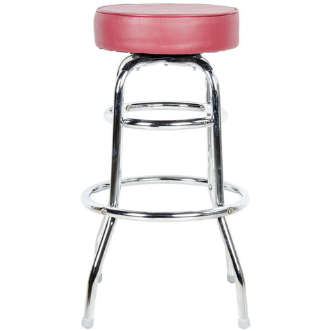 "Crimson Double Ring Barstool with 3 1/2"" Thick Seat"