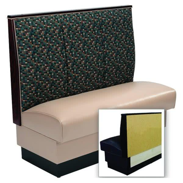 "AS-483-Wall 3 Channel Back Upholstered Wall Bench - 48"" High"