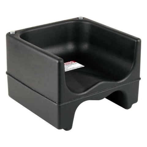 Black Plastic Booster Seat - Dual Seat