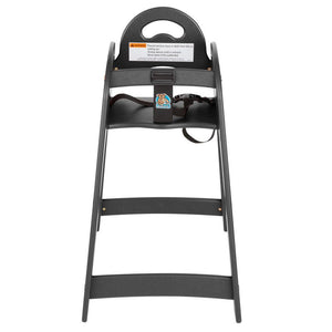Designer High Chair - Black