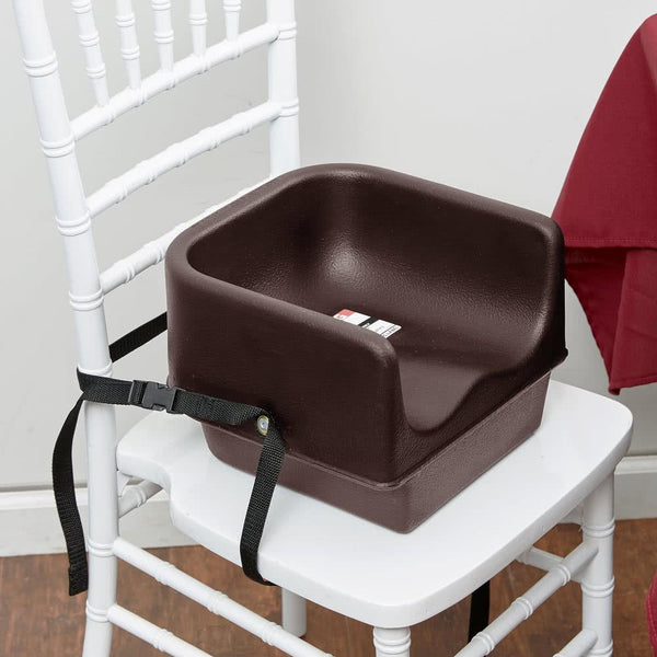 Brown Plastic Booster Seat - Single Seat with Strap
