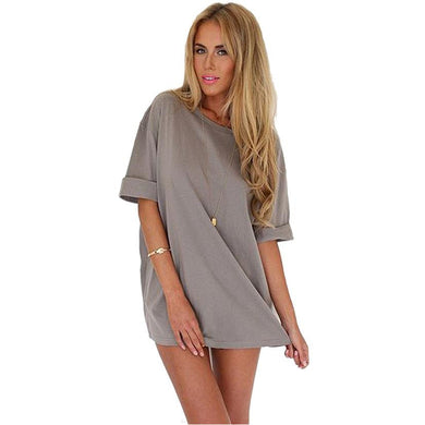 JECKSION Sexy Short Dress Women Tops 2016 Fashion Loose Chiffon Blouse Casual Dress #LYW