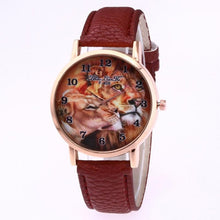 Women Lion Dress Watch Waterproof