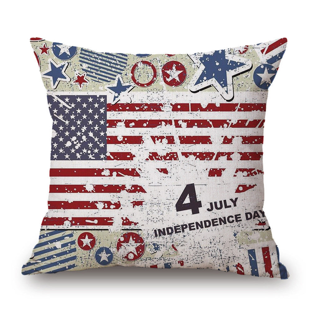 Americana star and stripes pillowcase 45*45