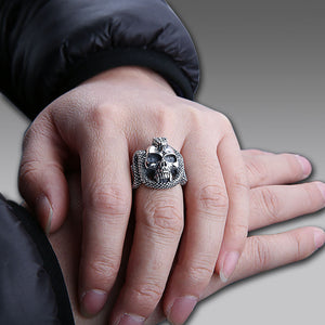 Cool Skull Skeleton Adjustable Rings - 925 Sterling Silver