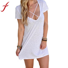 2016 Fashion Women Summer Dress Short Sleeve Bodycon Sexy Evening Party Solid Mini Dress Casual Party Dress