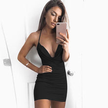 Women Sexy Sleeveless Sling Backless Dress Bandage Evening Party Dress