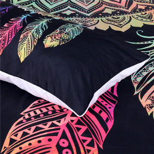 Fashiontwins Dreamcatcher Bedding Set King - 3pcs Black Home Textiles