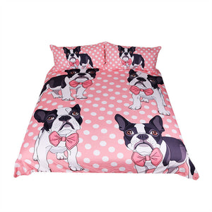 Fashiontwins Bow Tie Bulldog Bedding Set