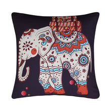 Fashiontwins Indian Elephant Black Bedding Set 4Pcs