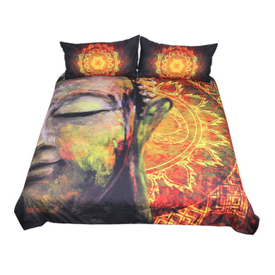 Fashiontwins Buddha Bedding Set 3-Piece