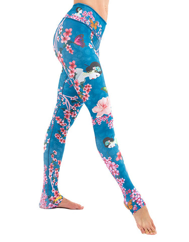 Geisha Flowers Leggings