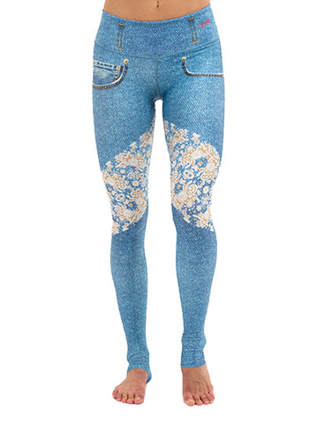 Denim Lace Leggings